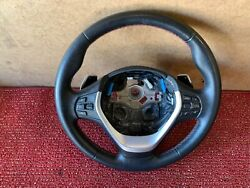 Bmw F30 F36 F22 Steering Wheel Mtech Red Stitched W/ Paddle Shifters Oem 86mk