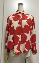 Vintage 1980's Vivienne Westwood Big Star Print Blouse Long Sleeve Rare