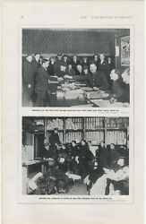 1916 Ww1 Print Members Receive First Dayand039s Pay After Call Up And Dish Out Uniforms