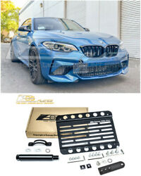 Eos Plate For 16-up Bmw F87 M2 Pdc Front Tow Hook License Mount Lowering Bracket