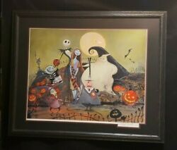 Disney's Nightmare Before Christmas Framed Lithograph Signed Eric Robison.le 150