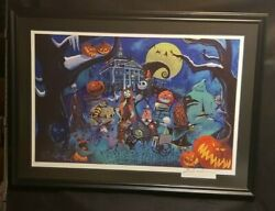 Disney's Nightmare Before Christmas Framed Lithograph Signed Eric Robison.le 200