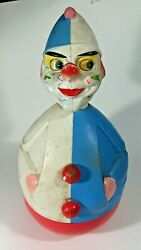 Vintage 1960s Rolly Toys Western Germany Wobble Clown