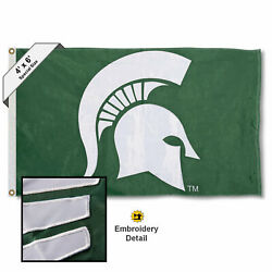 Michigan State University Spartans 4x6 Foot Embroidered And Appliqued Large Flag
