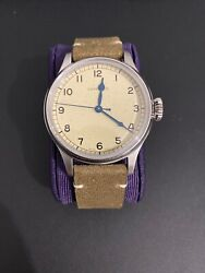 Longines Heritage Military Watch L2.819.4.93.2 Leather And Fabric Straps