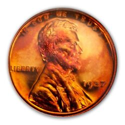 1937 1c Lincoln Cent - Type 1 Wheat Reverse Ngc Pr66rd Cameo