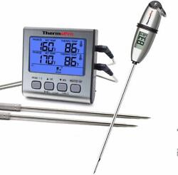 Tp02s Instant Readandtp17 Digital Meat Cooking Thermometer 2 Probe Bbq Food Smoker