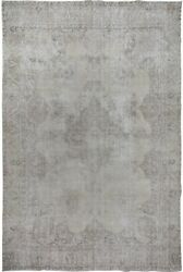 Muted Semi Antique Floral Tebriz Washed-out Handmade Distressed Area Rug 9x13