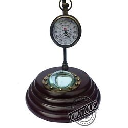 Vintage Antique Style Clocks Wooden Table Top Retro Home/office Decorative