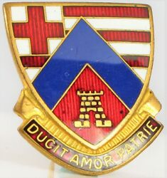 2nd Engineer Mass State Guard Ducit Amor Patrie Military Robbins Pin
