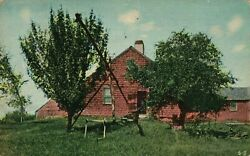 Greeting Card Showing A Brick House Vintage Stamped 1915 Postcard A59