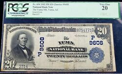 1902 20 National Bank Note Of Yuma Az Only 5 Known Plain Back