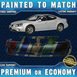 New Painted To Match - Front Bumper Replacement For 2004-2008 Pontiac Grand Prix