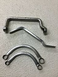 Lot Of 4 Snap-on Tools 2 Half Moon Box, Cyl Head Wrench And Brake Tool Usa C1