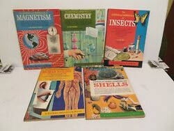 Lot 5 The Question And Answer Books Chemistry Insects Magnetism Shells Biology