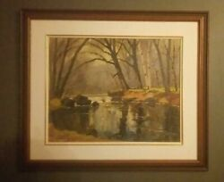 Canadian Oil Painting By Thomas Keith Roberts 1908-1998 A.r.c.a.