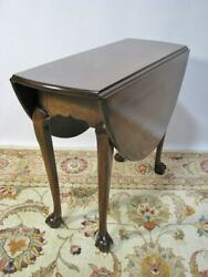 Kittinger Furniture Chippendale Style Ball And Claw Mahogany Drop Leaf Table