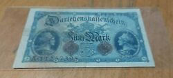 Banknote Currency Foreign Germany 1914 5 Mark Paper Money World Lot Note Rare