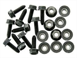 Body Bolts And Barbed Nuts- M6-1.0 X 20mm Long- 10mm Hex- 20 Pcs 10ea- Ld126