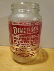 1965 Rare Red Pyro Acl Diversol Dairy Farm Bactericide The Diversey Corp Chicago