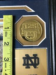 Notre Dame Gold Coins 1887-2012 Stadium 125th Anniversary Plaque Framed