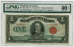 1923 Dominion Of Canada 1 Red Seal Dc-25g Pmg Certified And Graded Xf40 Epq