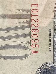 Error 1928 G 2 Two Dollar Bill 《low Red Seal Andnumber Shfit Down》 Super Rare!!!