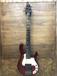 Electric Bass Killer Kb-quarry Red 5strings Long Skell Right Handed Used