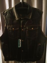 Motorcycle Armor padded Vest Denim Jacket  Xelement Seattle patch