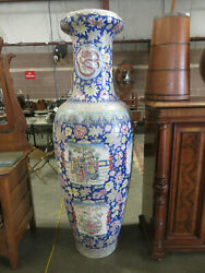 Giant 6' Antique Asian Oriental Chinese Palace Vase 5-toed Dragon