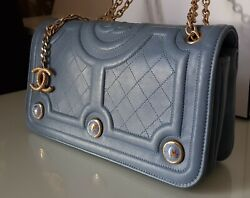 Rare CHANEL Decorated with Hand-Painted Enamel Medallions Flap Bag $4,990.00