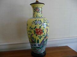 French Art Pottery Exceptionaland039 Large Antique Chinese Style Table Lamp