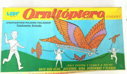 Ornithopter Ledy Mexico Flying Vintage Toy In Original Box Very Scarce