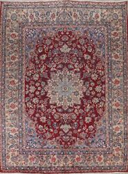 Semi Antique Floral Traditional Wool Medallion Hand-made Area Rug Oriental 10x13