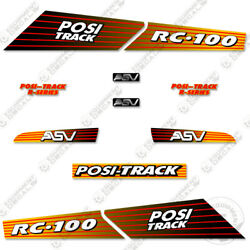Asv Rc-100 Decal Kit Skid Steer Replacement Stickers Equipment Decals Rc 100