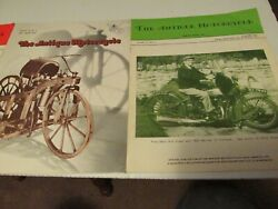 Antique Motorcycle Magazines 1973 + 1974 3 Pc Set Indian Scout Thor Harley