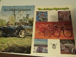 Antique Motorcycle Magazines 1976 Vol 15 1and4 Indian Thor Harley Husqvarna Scout