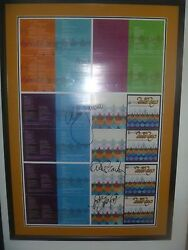 Beach Boys Signed + Framed That's Why God Made Radio Uncut Cd Proof Sheet X 8
