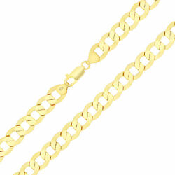 Wide 10k Yellow Gold 11mm Large Cuban Curb Italian Link Chain Necklace 24-30