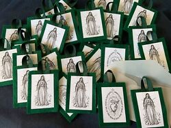 25 Green Scapular Of The Immaculate Heart Of Mary No Long String