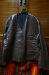 Vintage 1930's Jerkin Motorcycle Jacket Leather Outerwear Very Rare