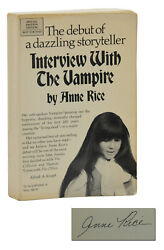 Interview With The Vampire Anne Rice Signed Advance Preview Arc First Edition