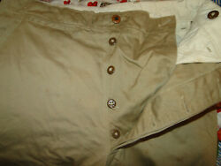 Vintage Usmc Us Military Uniform Trousers Chino Pant Button Fly Wwii Sz 30 X 31