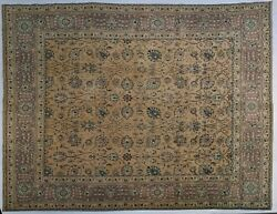 Gold Purple 10x13 Vintage Estate Traditional Rug 9' 9'' X 13' Feet 117 X 156 In