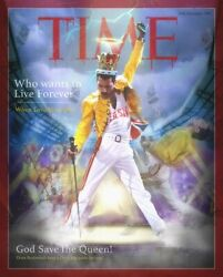 Jj Adams Who Wants To Live Forever Freddie Mercury Time Mag Queen Artist Proof