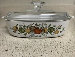 Rare Vintage Corning Ware With Life Spice Of Life A-8-b 1960-1970 8x8x1 3/4
