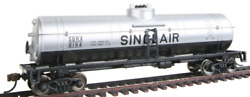 Walthers Trainline 40and039 Tank Car With Metal Wheels Ready To Run - Sinclair Oil