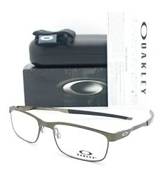 NEW Oakley Steel Plate RX Eyeglasses Frame Powder Pewter OX3222 0452 AUTHENTIC $109.00