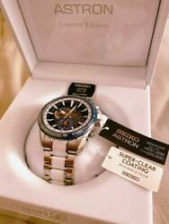 Seiko Astron Sbxa029 Limited Edition Box Solar Mens Watch Authentic Working