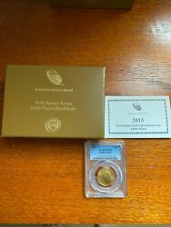 2013-w 10 Edith Wilson Pcgs Ms69 First Spouse Gold Coin 1ck